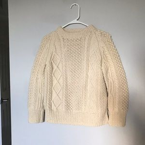 Vintage Wool Fisherman Knit Sweater S